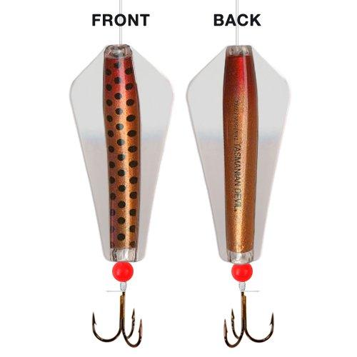 Tom's Taz Lures 048 Red Nosed Brown Bomber - 20 gram Tasmanian Devil Fishing - Red Bombe