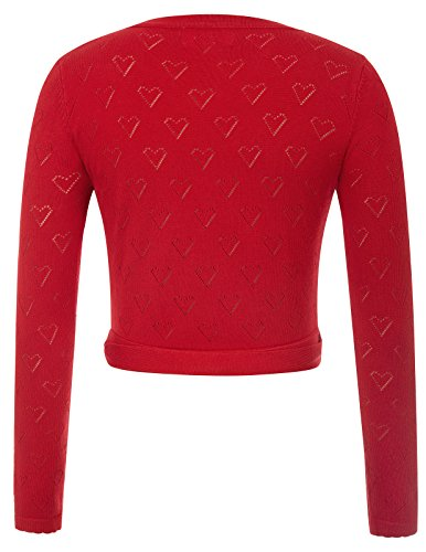 GF741 Manches Femmes Cardigan 50s Tricots 2 Bandages Crop 741 Top Poque Rouge Belle Longues wBFAUvAq