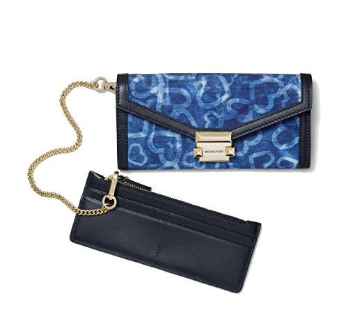 Michael Kors Whitney Large Heart Tie-Dye Chain Carryall Wallet