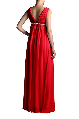 A Length Full Red Chiffon Women's Adorona Dress Line Pw5fSFxq