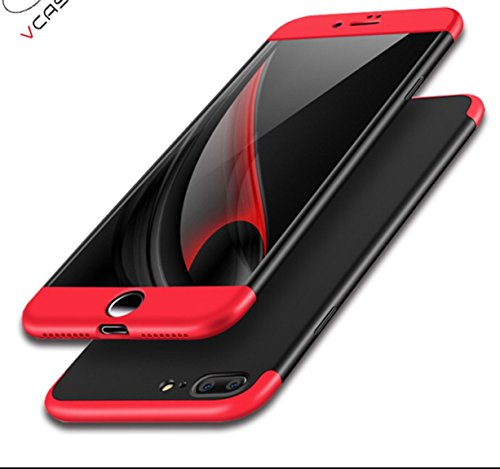 IPhone 6 Plus case, A Trading Ultra-thin PC Hard Case cover for IPhone 6 Plus (Red+Black+Red)