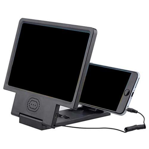 Zerama 3D Mobile Phone Screen Amplifier Magnifying HD Stand Holder Video Folding Enlarged Sound Screen Amplifier