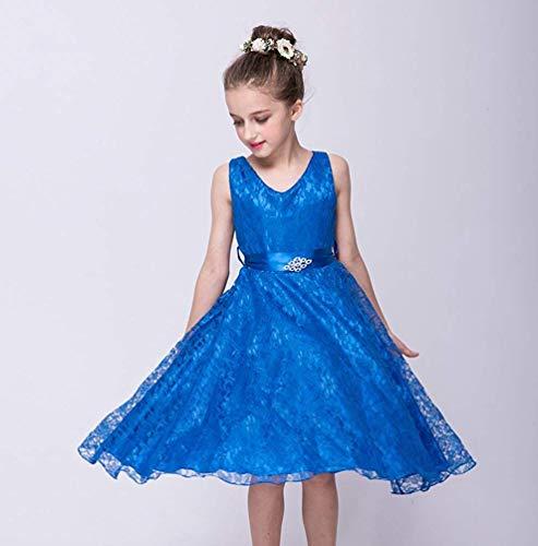colore Da Fuweiencore Con Dimensione Perline Vestitino Sapphire Vestito Festa Damigella 150 Di Compleanno Sapphire D'onore E 55fAqPXrW