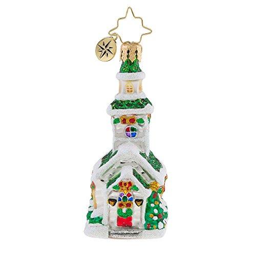 Christopher Radko Silver Steeple Little Gem Christmas Ornament