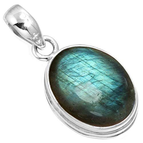 Silver Pendant Sterling Cabochon Handmade (Natural Labradorite Pendant 925 Sterling Silver Handmade Jewelry)