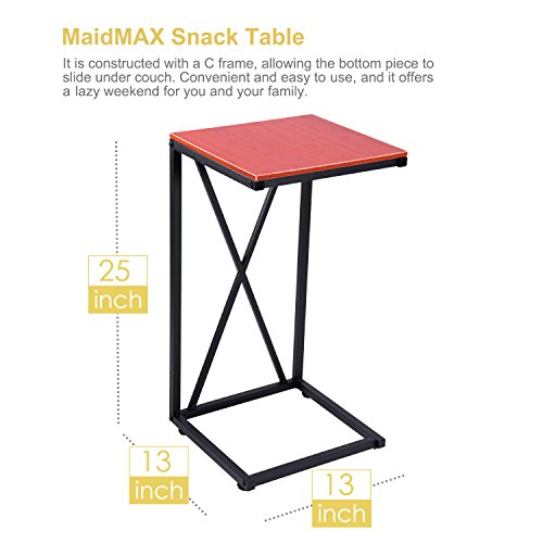 home, kitchen, furniture, living room furniture, tables,  coffee tables 8 image MaidMAX Snack Table, 25-Inch-High C-Shaped promotion