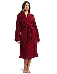 Superior Unisex 100% Premium Long-Staple Combed Cotton Terry Small Bath Robe, Burgundy