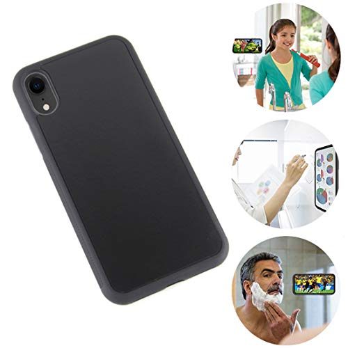 Omio for iPhone XR Antigravity Case Ultra Thin Magical Nano Adsorption Technology Anti-Gravity Protective Cover for iPhone XR Sticky Case Nano Suction Soft Anti-Scratch Shell for iPhone XR Case Black