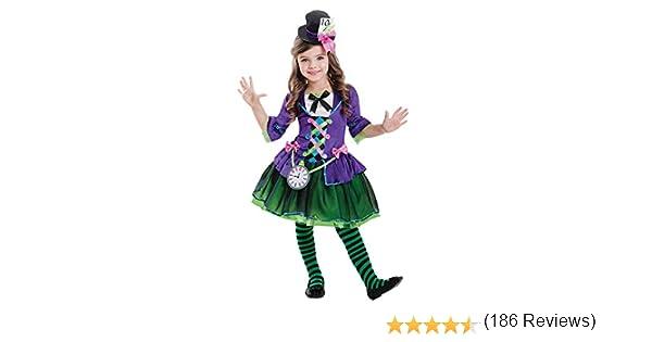 amscan Disfraz de gótico Sombrerero Loco gótico para niños Large ...