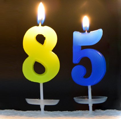 85th Birthday Candles Party Holiday Decroration Cake Candle With Holder Romantic Smokeless