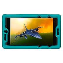 Bobj Rugged Case for NVIDIA Shield Tablet K1 - BobjGear Custom Fit - Patented Venting - Sound Amplification - BobjBounces Kid Friendly (Terrific Turquoise)