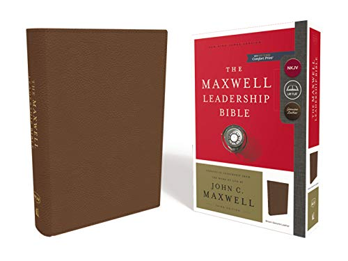 - NKJV, Maxwell Leadership Bible, Third Edition, Premium Cowhide Leather, Brown, Comfort Print: Holy Bible, New King James Version