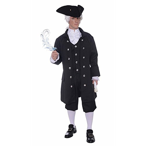 Colonial Costumes (Forum Novelties Men's Founding Father Patriotic Adult Costume, Black, Standard)