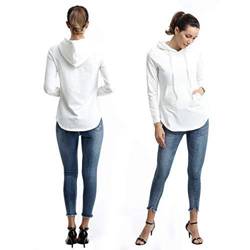 Buy woman jumper long sleeve white