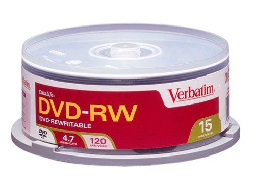 Verbatim DVD-RW 4.7GB 15pk Spindle
