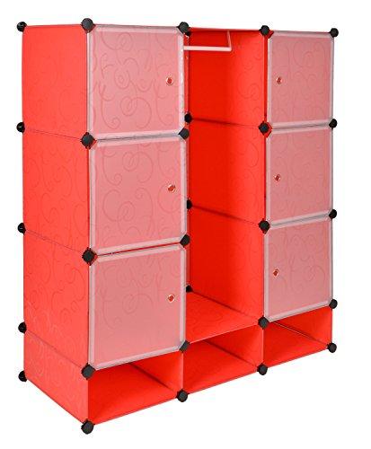 Ts ideen meuble de rangement tag re commode armoire v tements chaussures rouge salle de - Meuble de rangement salle de jeux ...