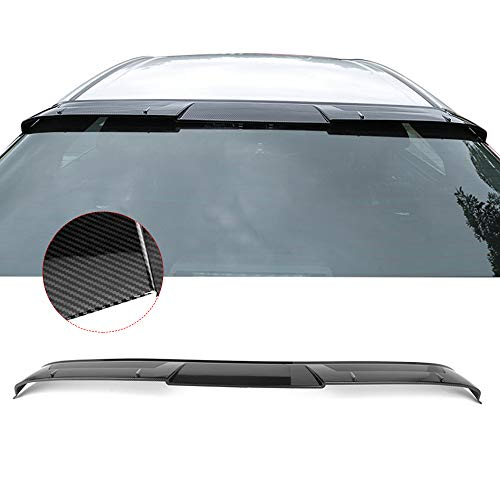 Fits 18-19 Toyota Camry V2 Style Roof Spoiler Carbon Fiber Look ABS By IKON MOTORSPORTS