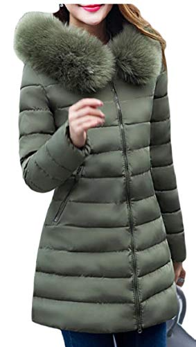 Lined Outdoor security Jacket Winter Women Parka Hoodie Coats Army Long Green Down xxYBz
