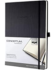 Sigel, CONCEPTUM®, notitieboek hardcover, notitieboek A4+/geruit. A4+ zwart