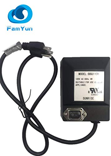 FamYun Universal Grill Electric Replacement Rotisserie Motor 120 Volt 4 Watt On/Off Switch, Black