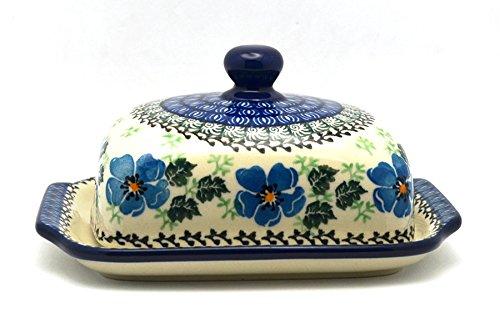 - Polish Pottery Butter Dish - Morning Glory