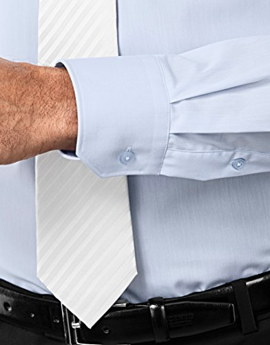 Manica Uomo In Tinta non 3 Boretti Aderente Taglio Stiro iron fit Camicia azzurro Unita Classico slim Non Lunga Collo Eleganti Vincenzo Ow7EvfTqv