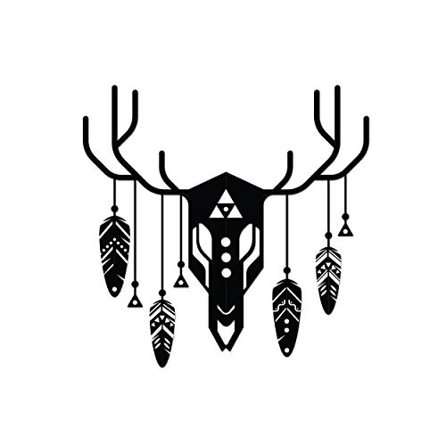 Ada Home Décor MWAB1341 Tribal Deer Metal Wall Art 23.62'' x 23.62'' Black (Wall Turkey Art Metal)