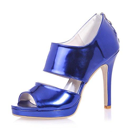 hauts Rose 5915 26 Sandales Peep artificielles Soirées amp; Or Toe Talons L blue Robes Mariage YC Femmes FgXwAq