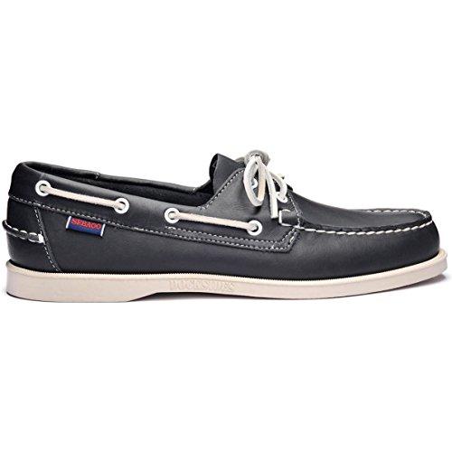 Sebago Docksides Slip On Shoes 9.5 D(M) US Blue Navy Leather