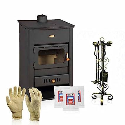 Caldera de leña estufa Prity, Modelo K2 CP W10, salida de calor 15 kW