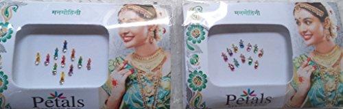 Bindi Store Indian Designer Bindi for Women 2 Pack Traditional Colourful Bindi