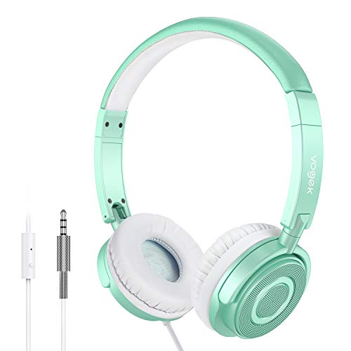 Vogek Kids Headphones with Microphone, 2 Pack Wired On Ear Headphones for Kids with 85dB Volume Limit, Online Schooling…