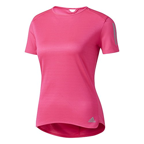 adidas Response Short Sleeve Running Tee - Womens - Shock Pink - Small