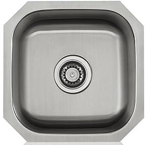 Lenova ls18161 apogee 18 gauge stainless steel single bowl square lenova ls18161 apogee 18 gauge stainless steel single bowl square undermount kitchen sink workwithnaturefo