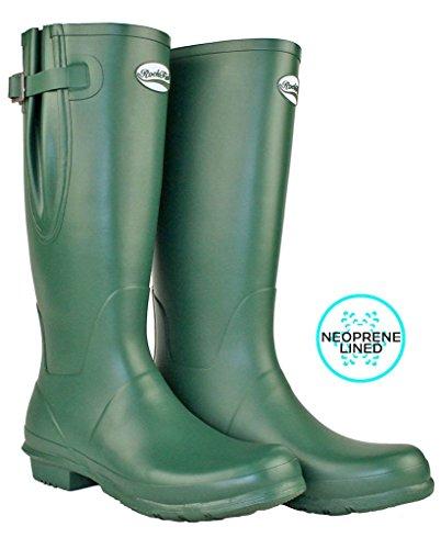 wellies standard wide Wellies Green Women's adjustable and Rockfish calf Racing fit Neoprene xqO5IwxR
