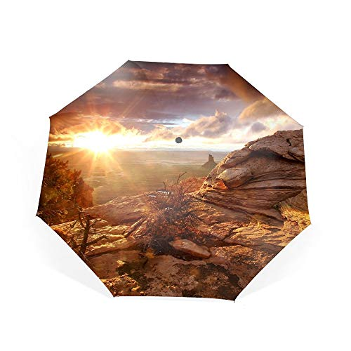 Candlestick Tower Overlook Canyonlands Travel Umbrella, Automatic Folding Umbrella, Compact 46 Inch Rain Umbrella for Men Women, Auto Open -