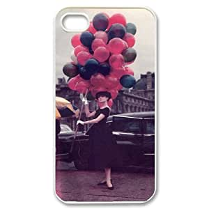 C-EUR Customized Print Audrey Hepburn Pattern Back Case for iPhone 4/4S by icecream design