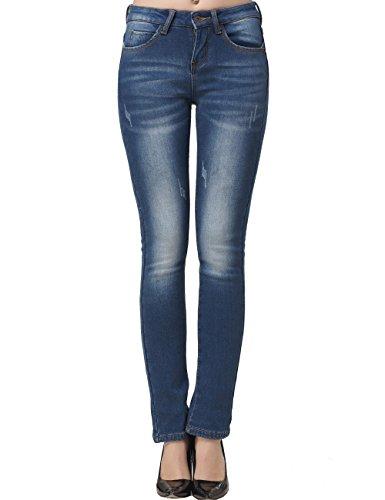 Camii Mia Women's Mid Rise Slim Fit Fleece Skinny