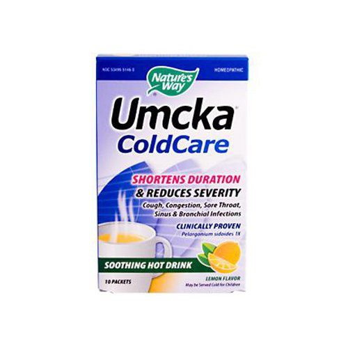 W2B - Natures Way Umcka ColdCare Soothing Hot Drink Lemon - 10 Packets