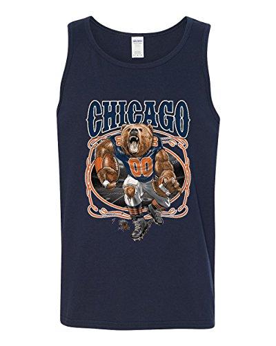- Chicago Fan | CHI Fantasy Football | Mens Sports Graphic Tank Top, Navy, 3XL