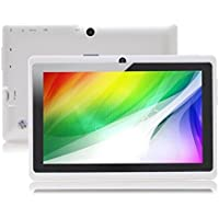 7 inch Android Tablet PC, 4.4 Jelly Bean OS, Quad Core, Allwinner A33 CPU, Dual Cameras, 5 Point Capacitive Touch Screen, 8GB Storage,White