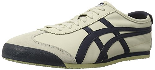 Onitsuka Tiger Mexico 66 Fashion Sneaker, Birch/India Ink/Latte, 10.5 M