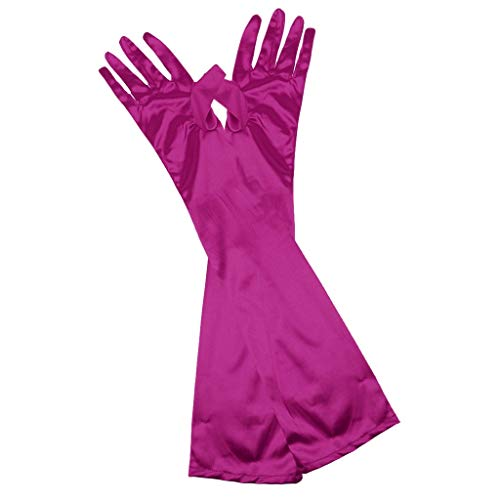 Jytrading 1Pair Extended fix up Satin Bridesmaid Party Costume Dance Winning Dress Percussion Instrument Mittens Light Purple ()
