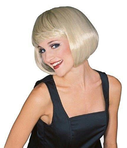 Blonde Super Model Wig (Supermodel Wig Blonde Short Bob 70s Disco Girl)