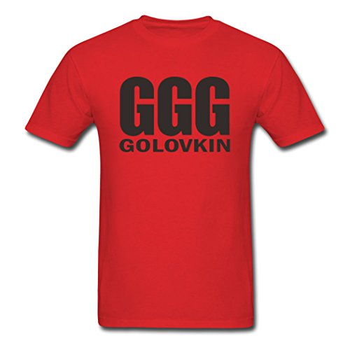 Hkpopo Ggg Golovkin Individual Character Males Red T Shirt Xx Large