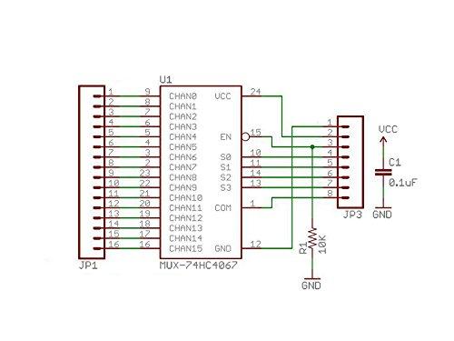 hiletgo® 3pcs CD74HC4067 analógico Digital CMOS 16 canales multiplexor para tarjeta de memoria para Arduino: Amazon.es: Industria, empresas y ciencia