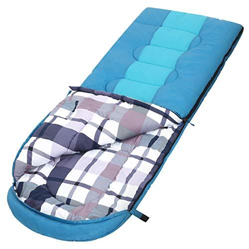 SONGMICS Schlafsack mit Kompressionsbeutel, breiter Deckenschlafsack, Komforttemperatur 5-15°C, 3-4 Jahreszeiten, leicht…