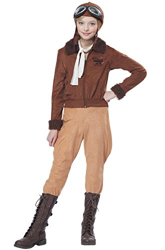 California Costumes Amelia Earhart/Aviator Costume, Large, - Aviator Kids For Goggles