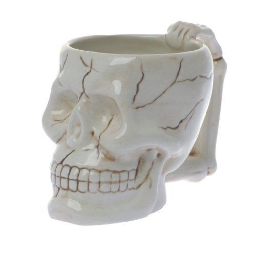 Human Skull Novelty Coffee Mug - Diabolical Bonehead Cup Ceramic 16 oz. Pacific Trading]()