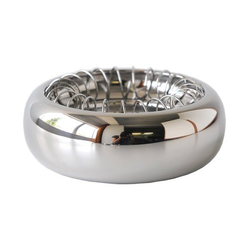 Alessi Stainless Steel Ash Tray Aleesi 7690/12, Silver by Alessi